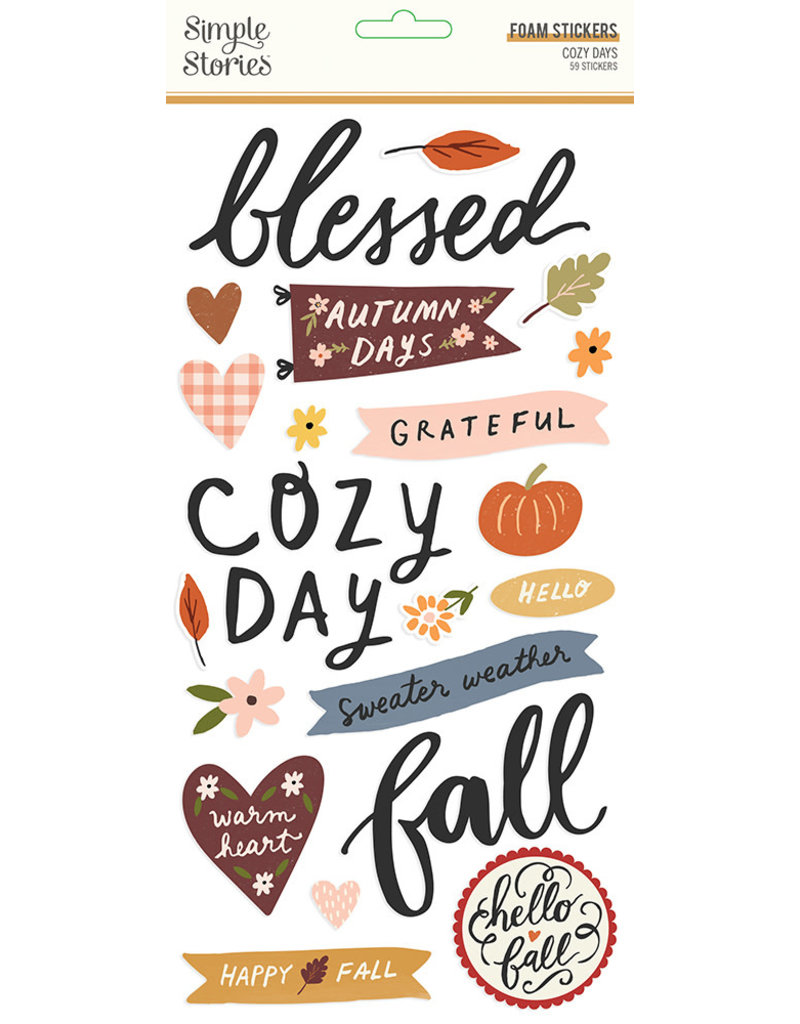 simple stories Cozy Days: Foam Stickers