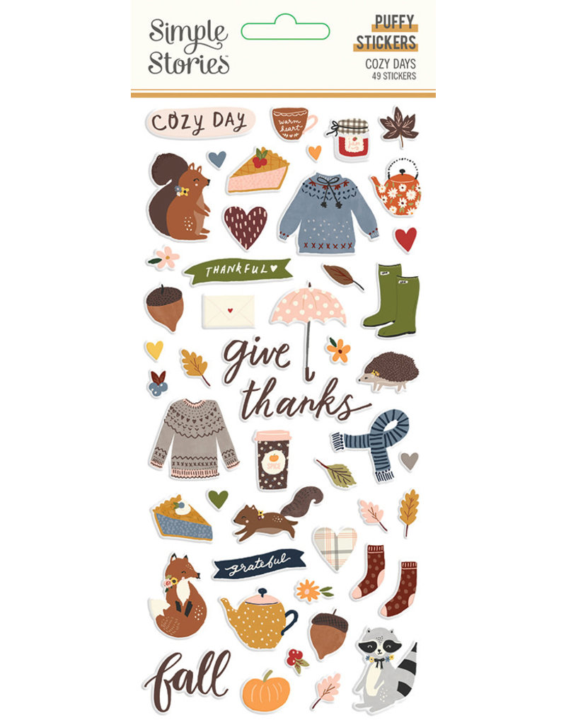 simple stories Cozy Days: Puffy Stickers