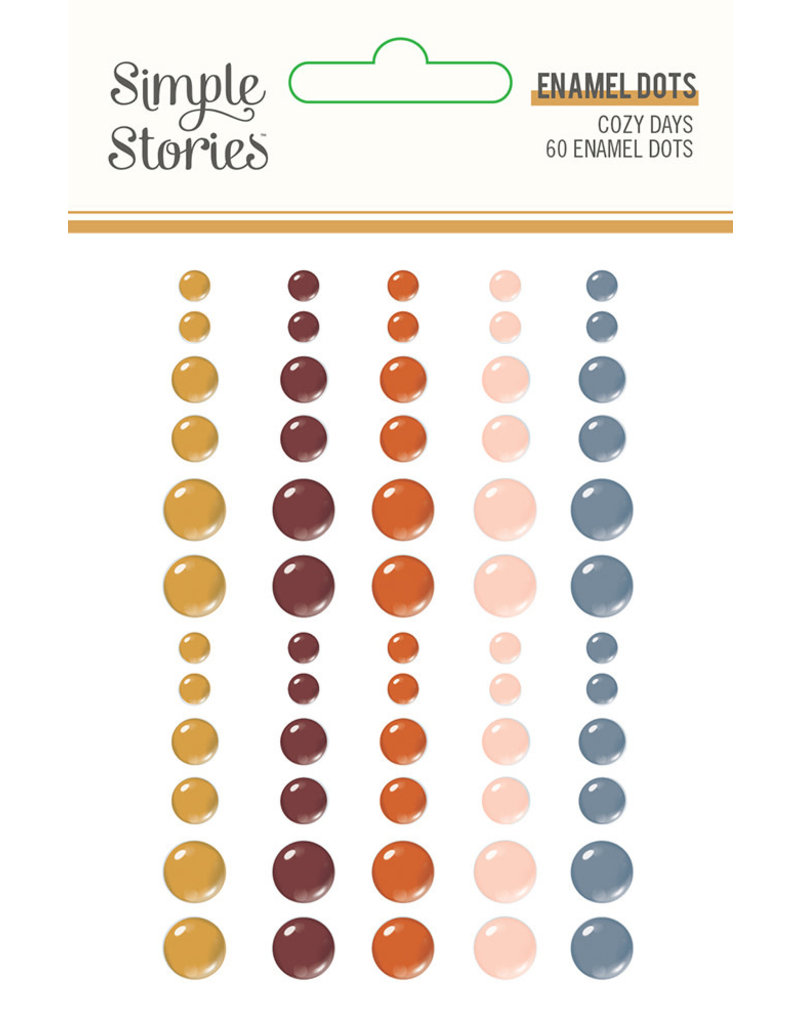 simple stories Cozy Days: Enamel Dots