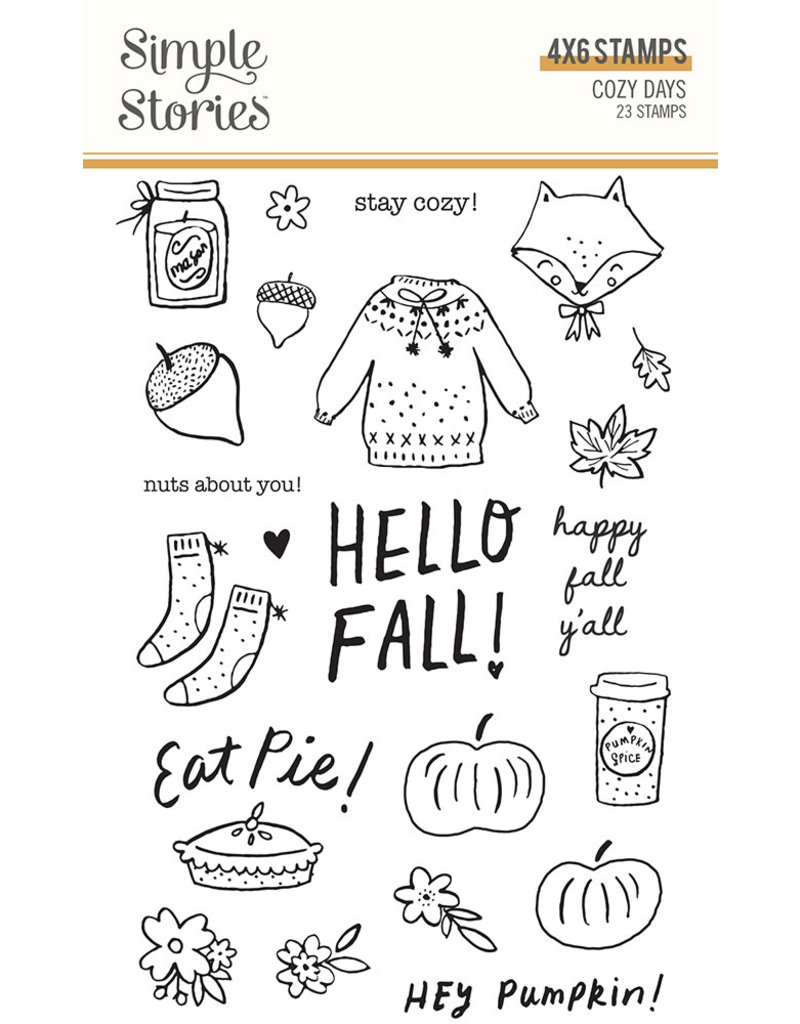 simple stories Cozy Days: Stamps
