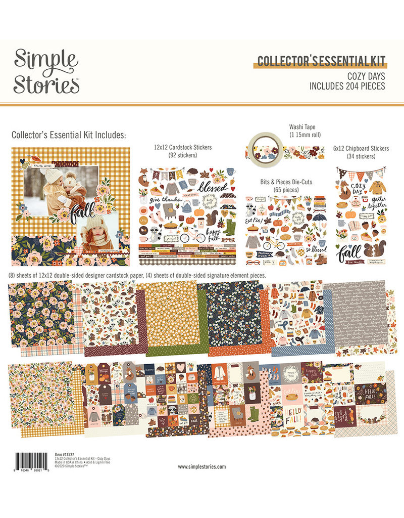 simple stories Cozy Days: Collector's Essential Kit