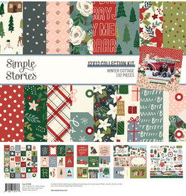 simple stories Winter Cottage: Collection Kit
