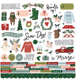simple stories Winter Cottage: Cardstock Sticker
