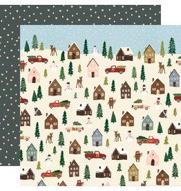 simple stories Winter Cottage Paper: Winter Wonderland