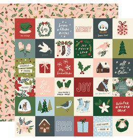 simple stories Winter Cottage Paper: 2x2 Elements