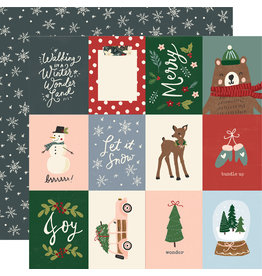 simple stories Winter Cottage Paper: 3x4 Elements