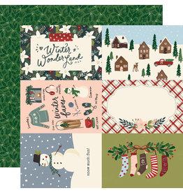 simple stories Winter Cottage Paper: 4x6 Elements