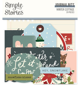 simple stories Winter Cottage: Journal Bits