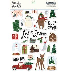 simple stories Winter Cottage: Sticker Book