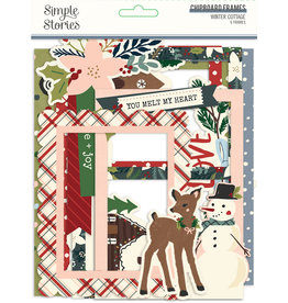 simple stories Winter Cottage: Chipboard Frames