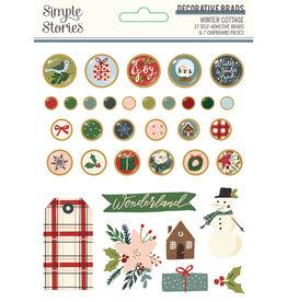 simple stories Winter Cottage: Decorative Brads