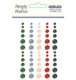 simple stories Winter Cottage: Enamel Dots