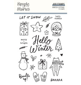 simple stories Winter Cottage: Stamps