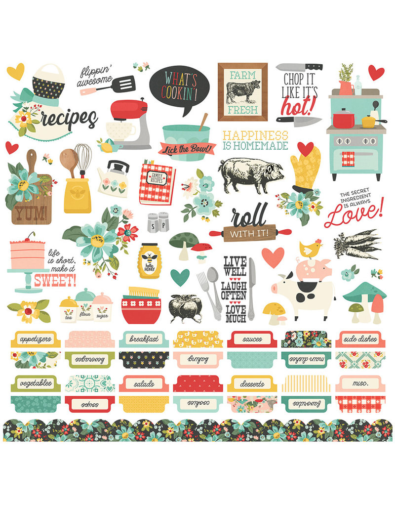 simple stories Apron Strings: Cardstock Sticker