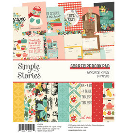 simple stories Apron Strings: 6x8 Recipe Book Pad
