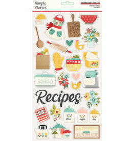 simple stories Apron Strings: 6x12 Chipboard