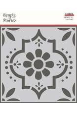 simple stories Apron Strings: 6x6 Stencil- Vintage Tile