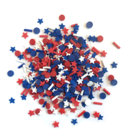 Buttons Galore Sprinkletz: Star Spangled