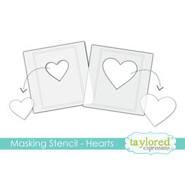 Taylored expressions Masking Stencil: Hearts
