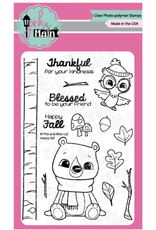 pink & main Happy Fall Stamp
