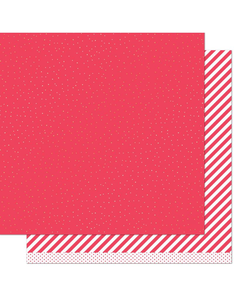 let it shine paper: red sprinkle 'n shine