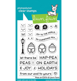 peas on earth stamp