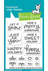 shutter card holiday sayings stamp