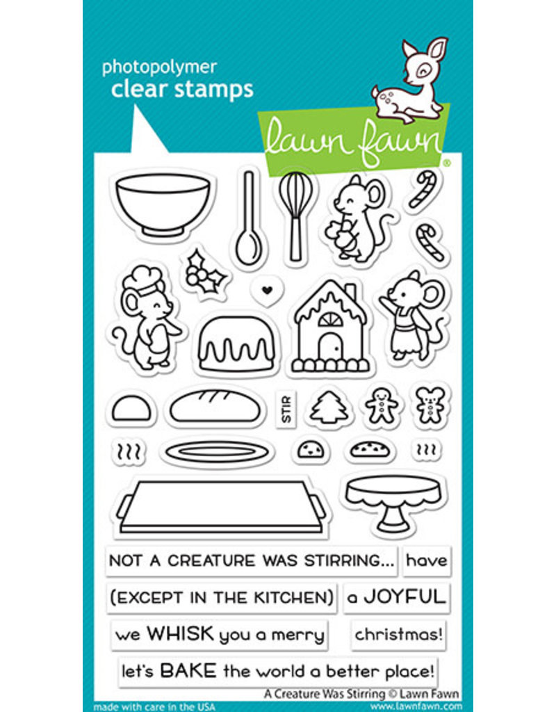 a creature was stirring stamp