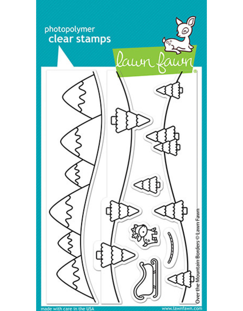over the mountain borders stamp