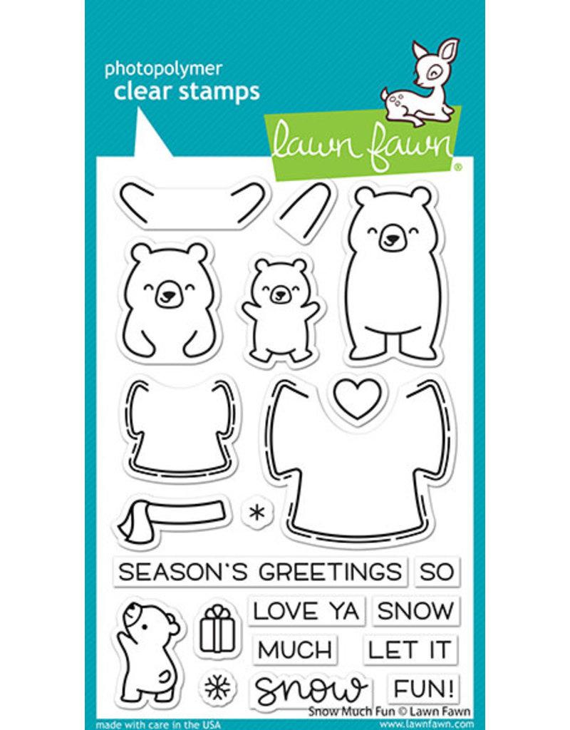 snow much fun stamp
