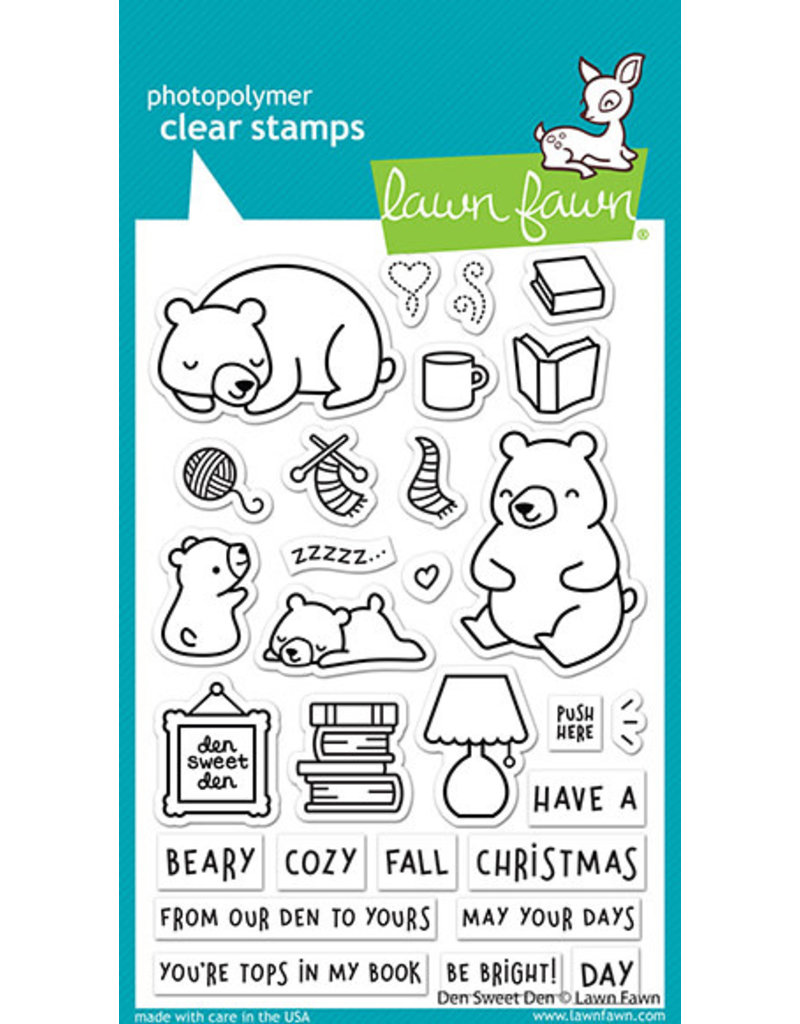 lawn fawn den sweet den stamp