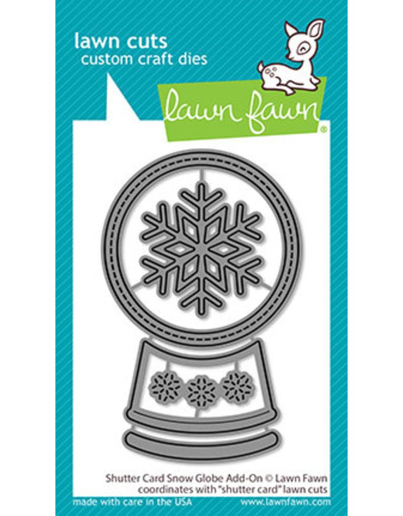 shutter card snow globe add-on die