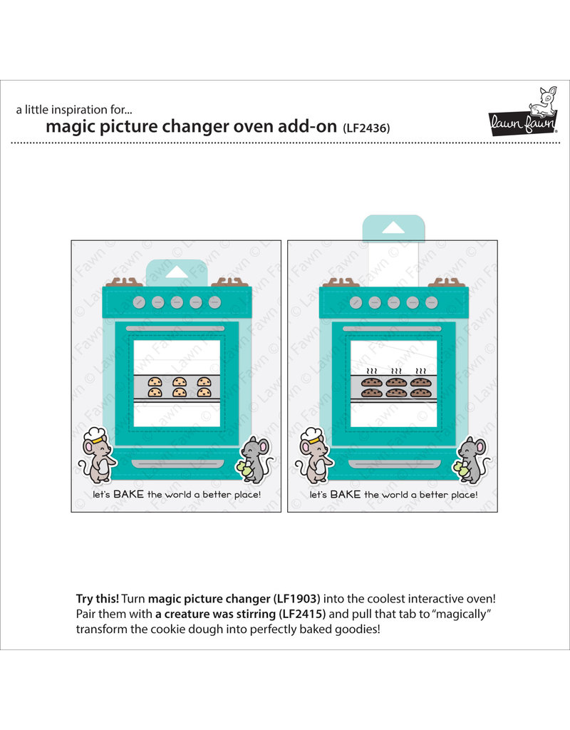 magic picture changer oven add-on die