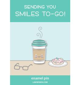 smiles to-go enamel pin