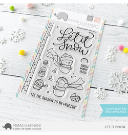 Mama elephant Let it Snow Stamp