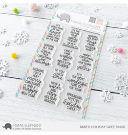 Mama elephant Mixed Holiday Greetings Stamp