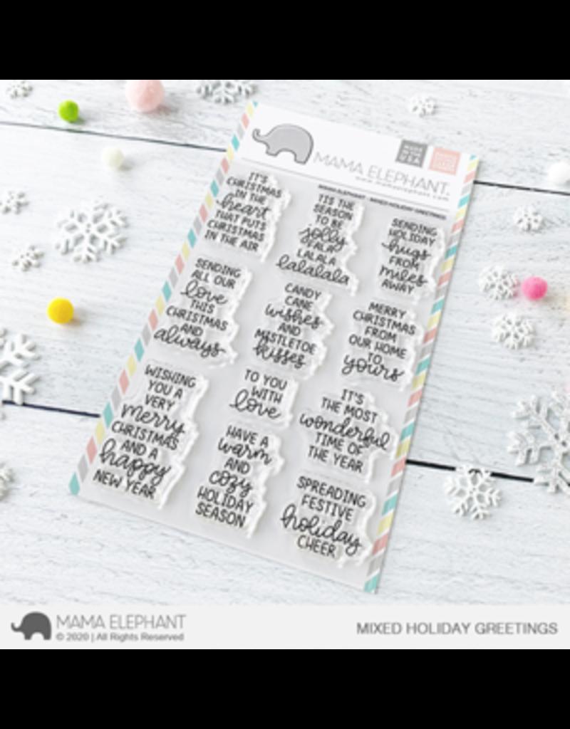 Mama elephant Mixed Holiday Greetings Stamp