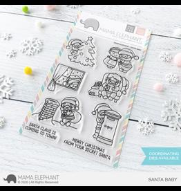 Mama elephant Santa Baby Stamp