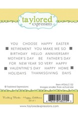 Taylored expressions Building Blocks - Happy Additions