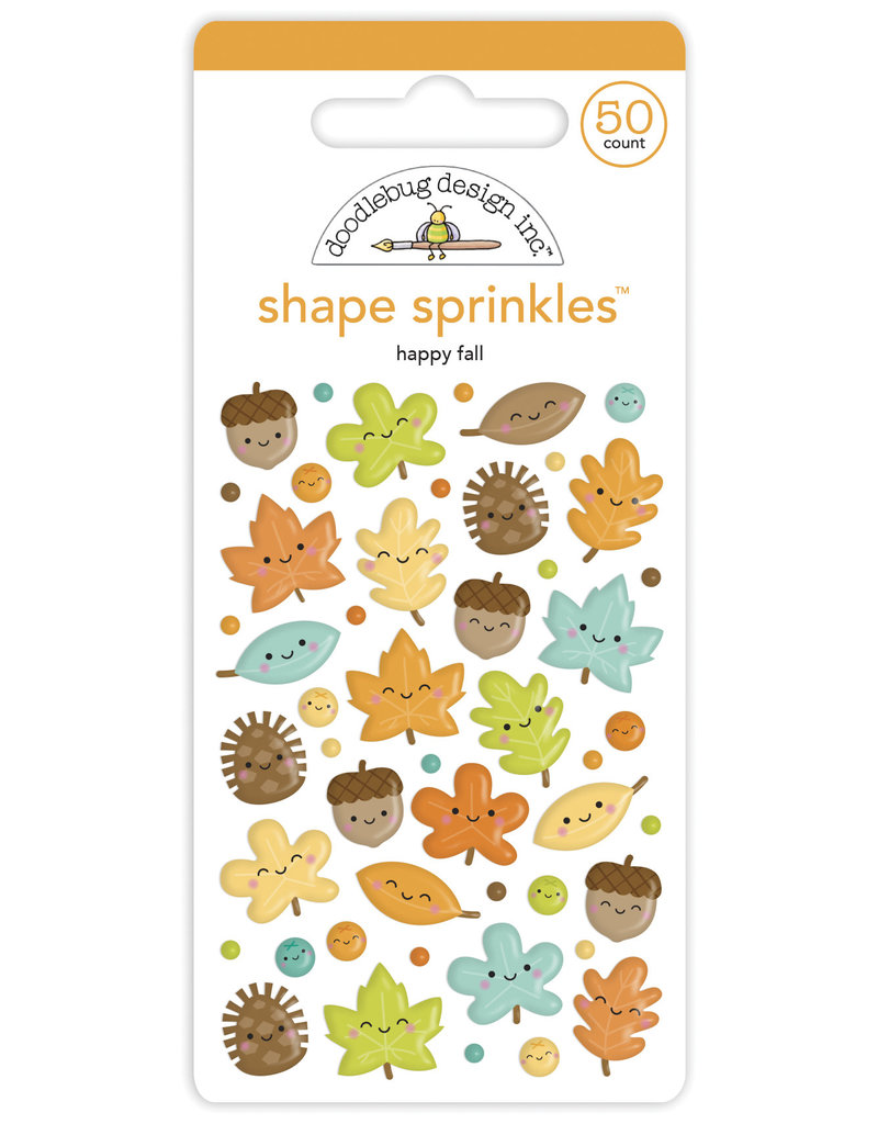 pumpkin spice: happy fall shape sprinkles