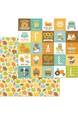 pumpkin spice: unbe-leaf-able double-sided cardstock