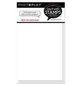 # 6 Blank White Scored Card (10pk)