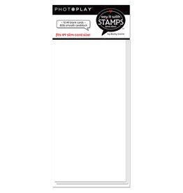 # 9 Blank White Scored Card (10pk)