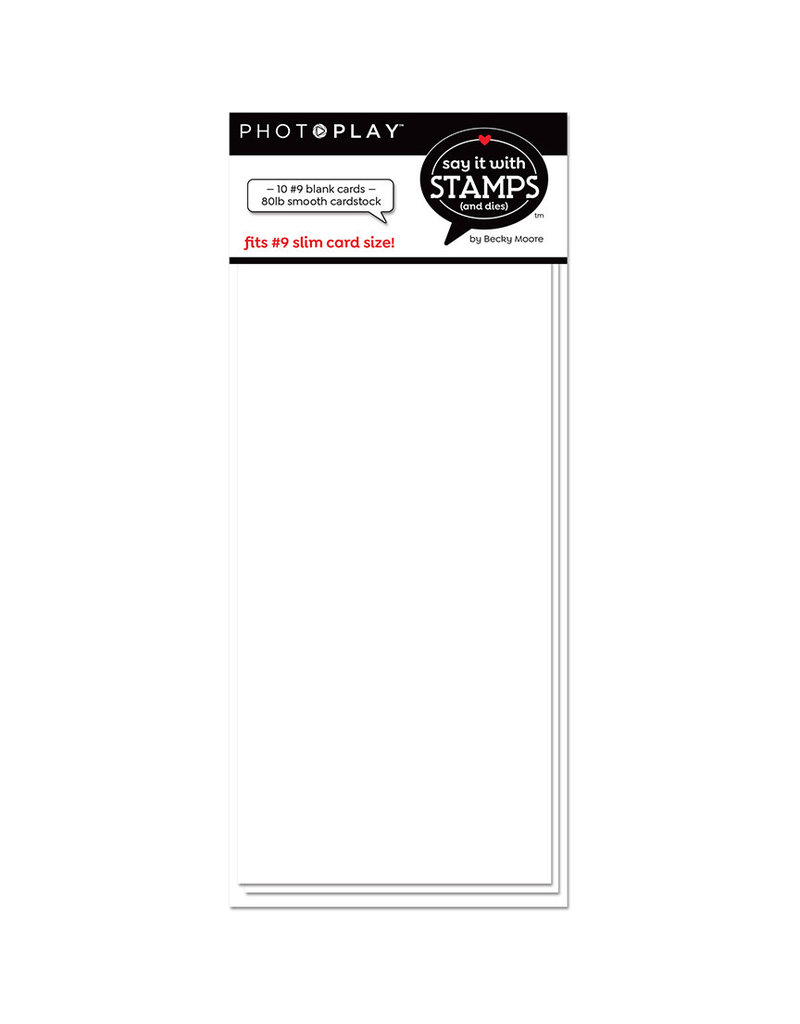 # 9 Blank White Scored Card (10pk)