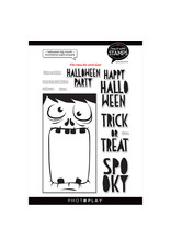 """#6 Halloween Big Mouth Icon 6""""x8"""" stamp"""