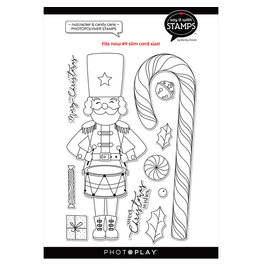 "#9 Nutcracker/Candy Cane 6""x8"" Icon stamp"