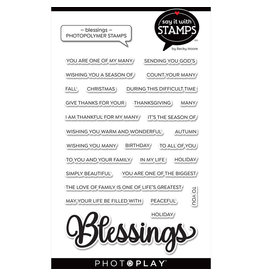 "Blessing 4""x6"" Word Stamp"