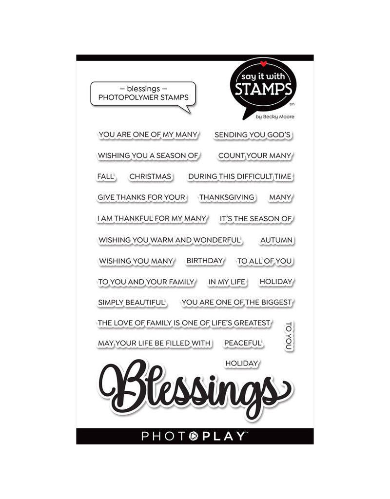 """Blessing 4""""x6"""" Word Stamp"""