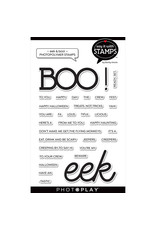 "Boo/Eek 4""x6"" Word Stamp"