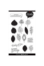 """Fall leaves 4""""x6"""" Icon Stamp"""